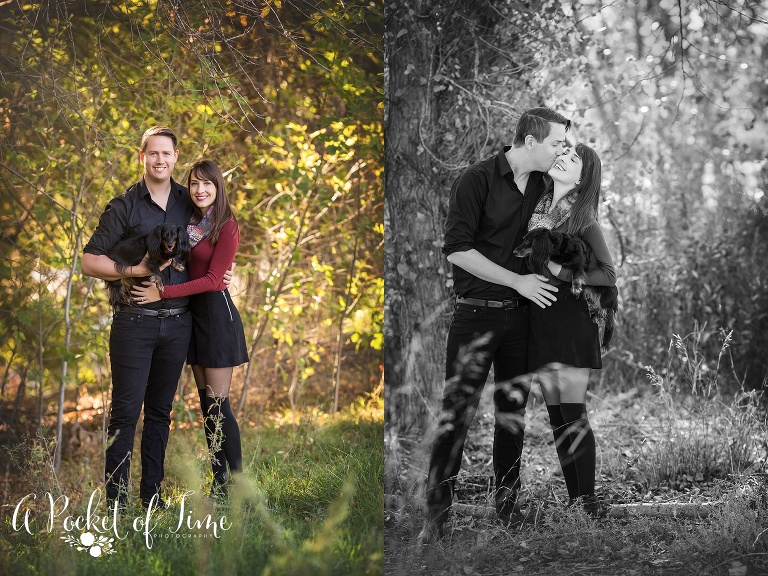 Outdoor family photography with dachshund dog by a pocket of time photography